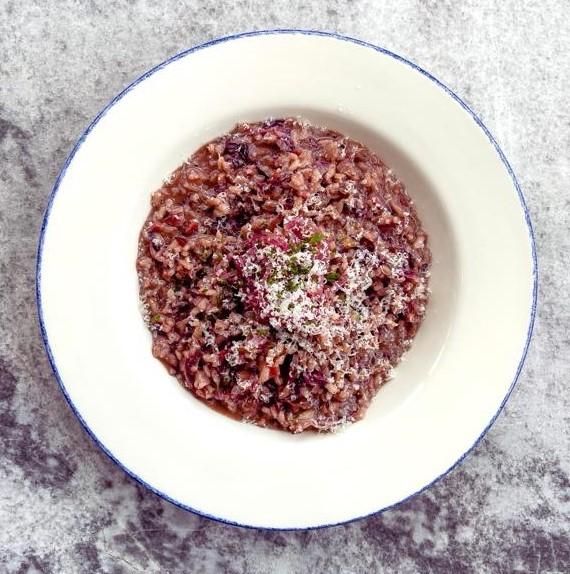 Chianti Classico, radicchio, bacon, pickled red onion, grana padano