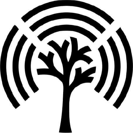 Black logo (tree) of Stream by Stream