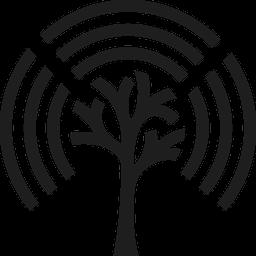 Logo of Stream by Stream. Symbol of a tree