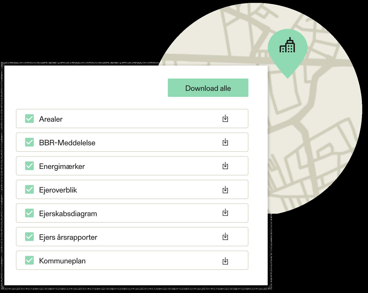 Download dokumenter for en ejendom i Estaid