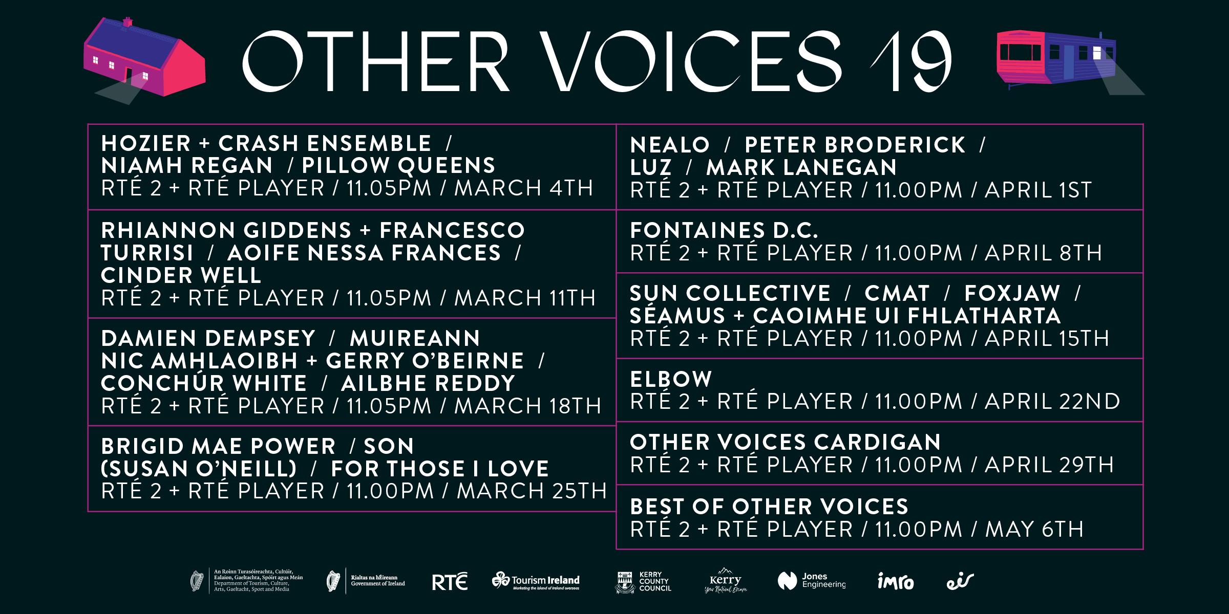 Other Voices Season 19 Timetable