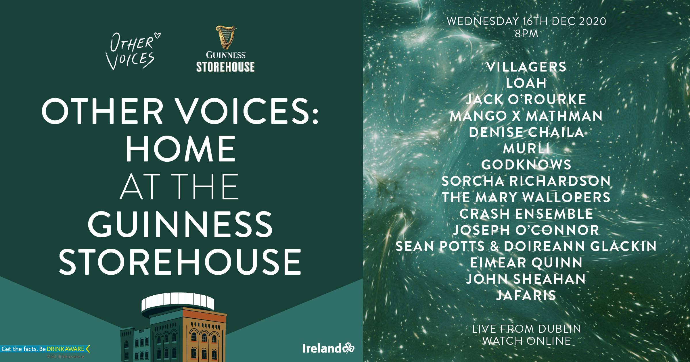Other Voices presents: Home at the Guinness Storehouse