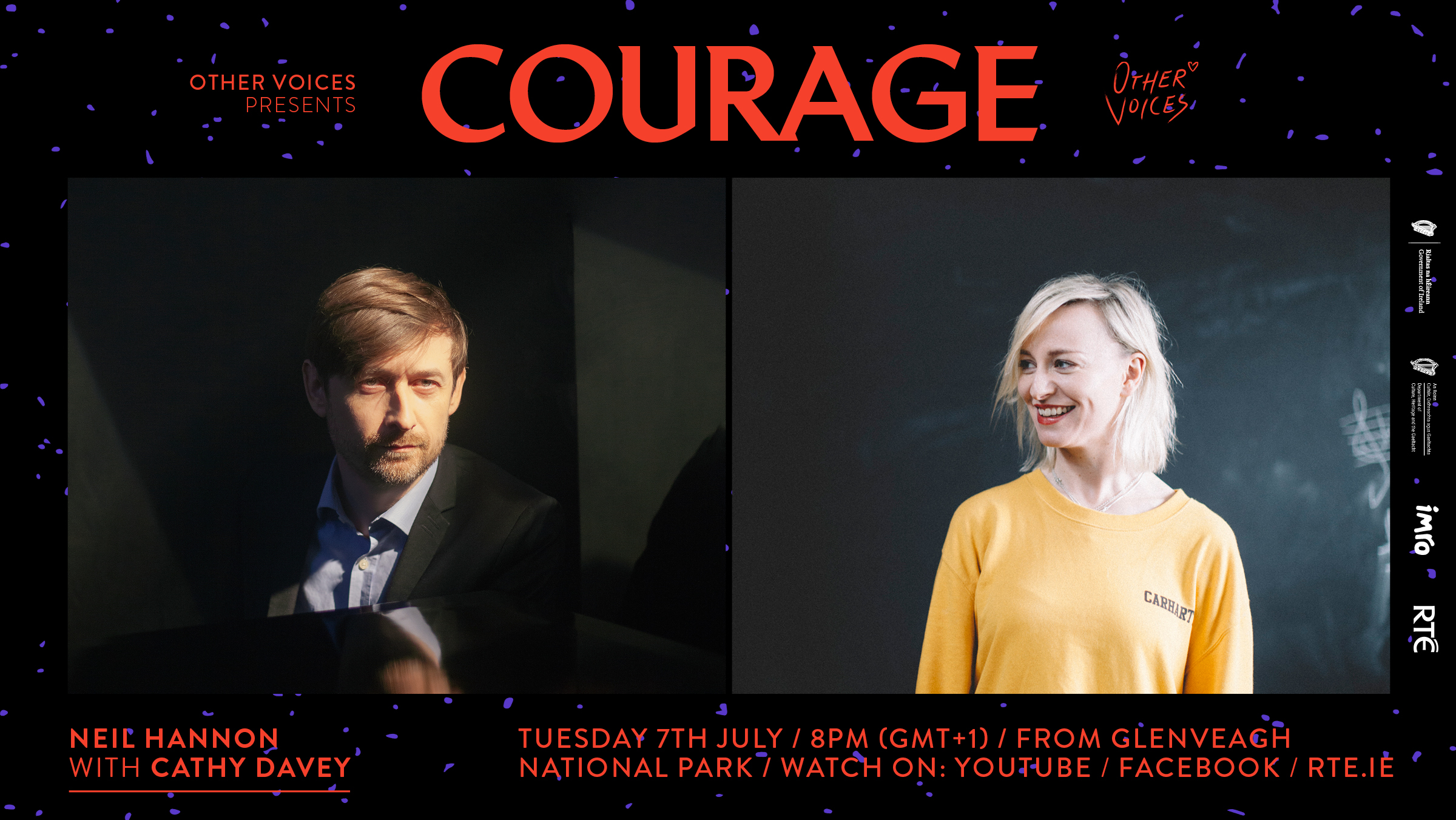Courage: Neil Hannan accompanied by Cathy Davey, introducing Eve Belle