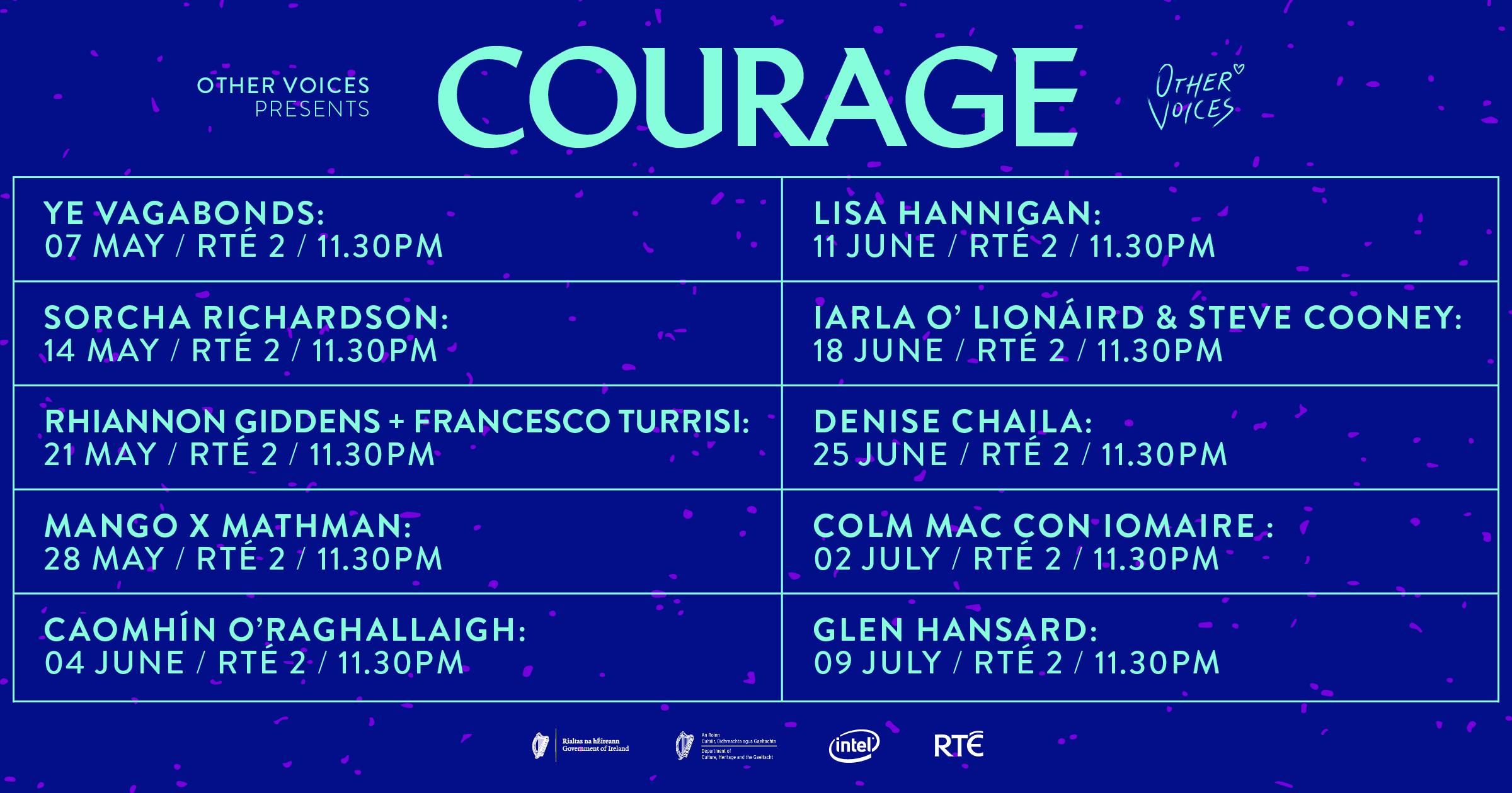 Courage   RTE Schedule