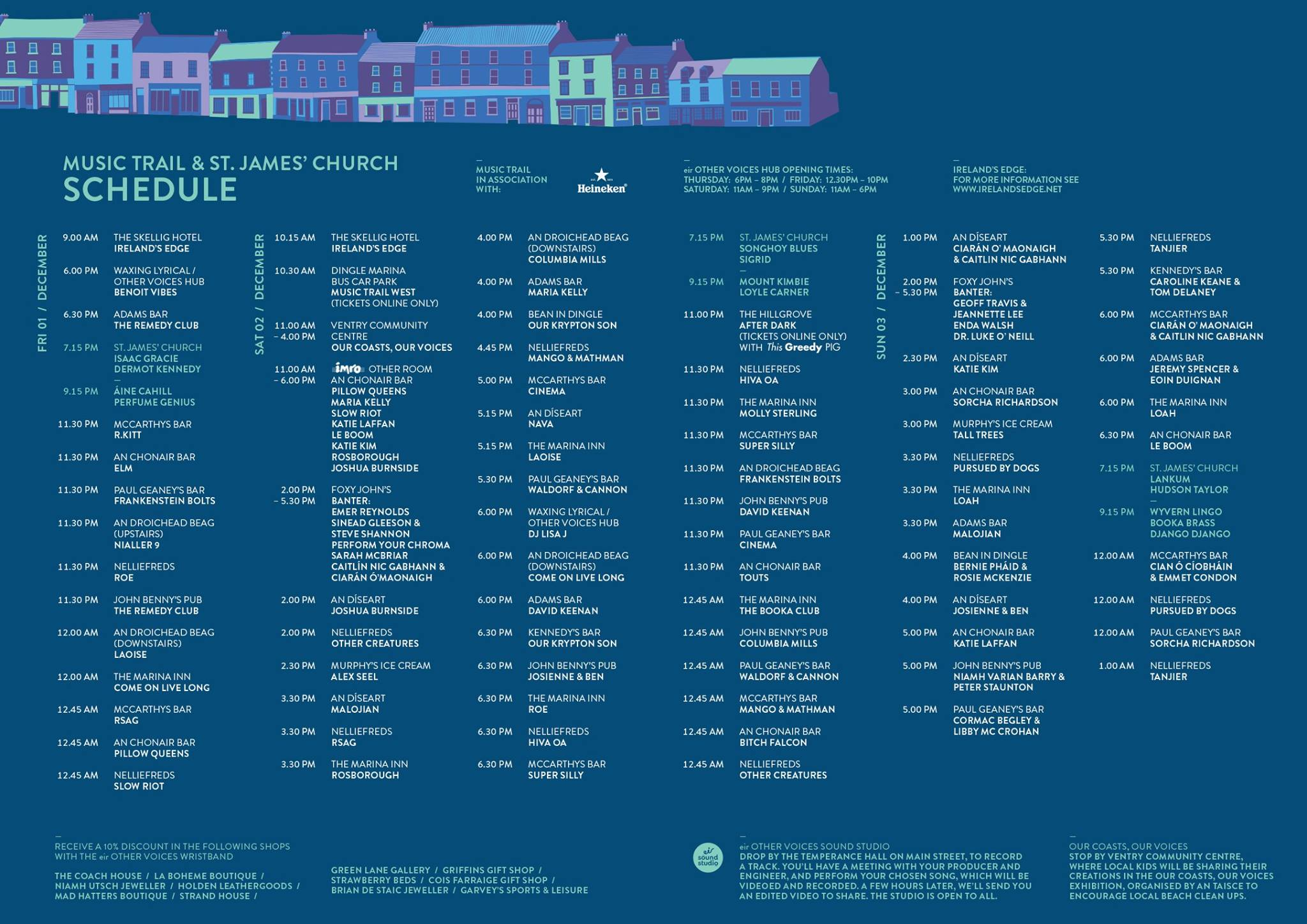 Other Voices Timetable