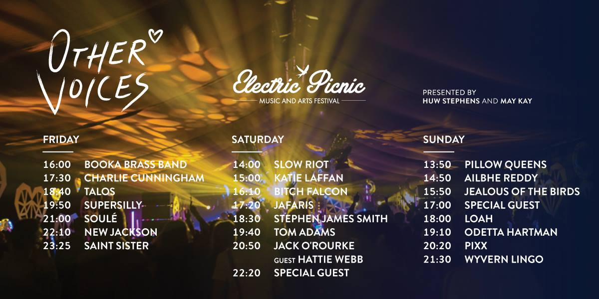 Electric Picnic Stage Times 2017