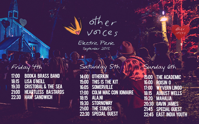OTHER VOICES ELECTRIC PICNIC LINE UP REVEALED