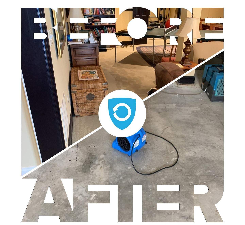 Remove carpet on water damage