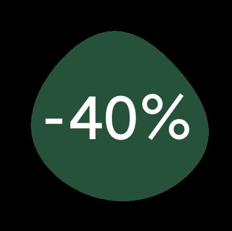 40%discount