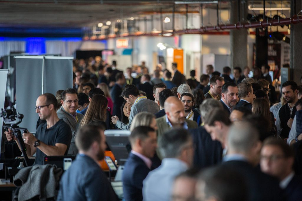 crowded conference venue at CREtech New York