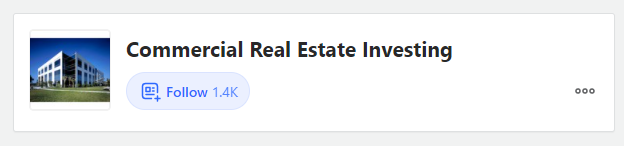 Commercial real estate investing topic on quora with 1.4K followers