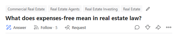 sample commercial real estate question on quora