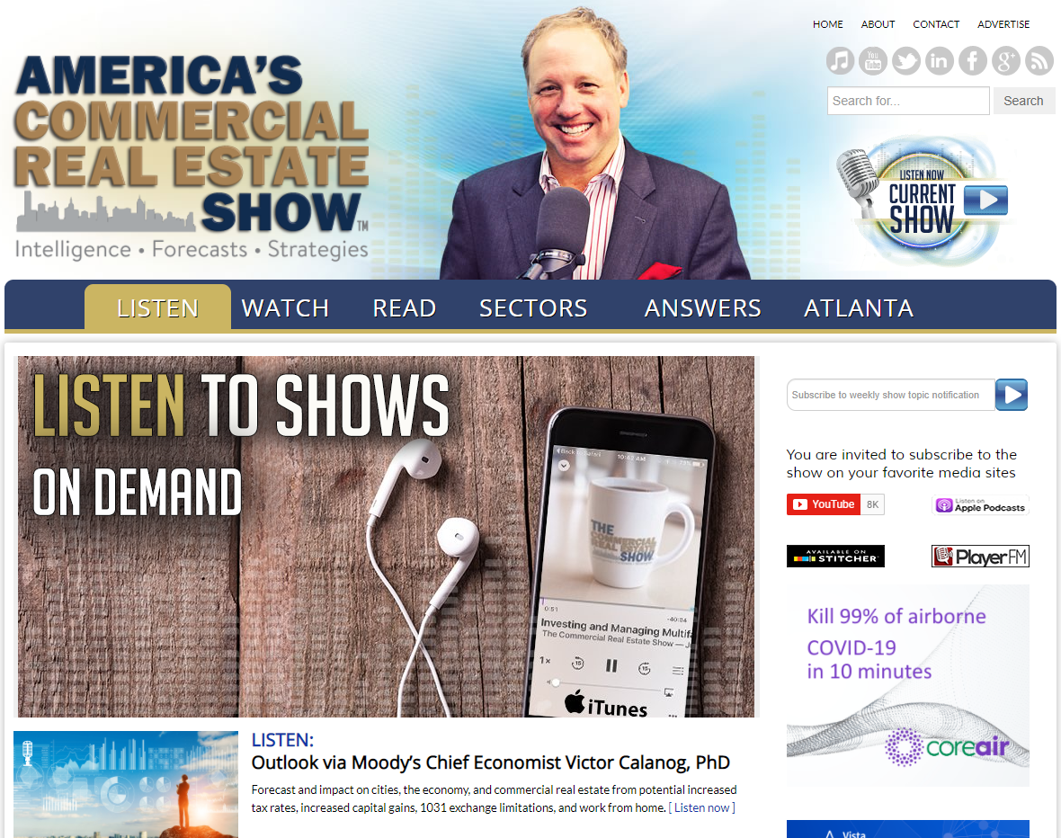 Screenshot from the America's Commercial Real Estate website