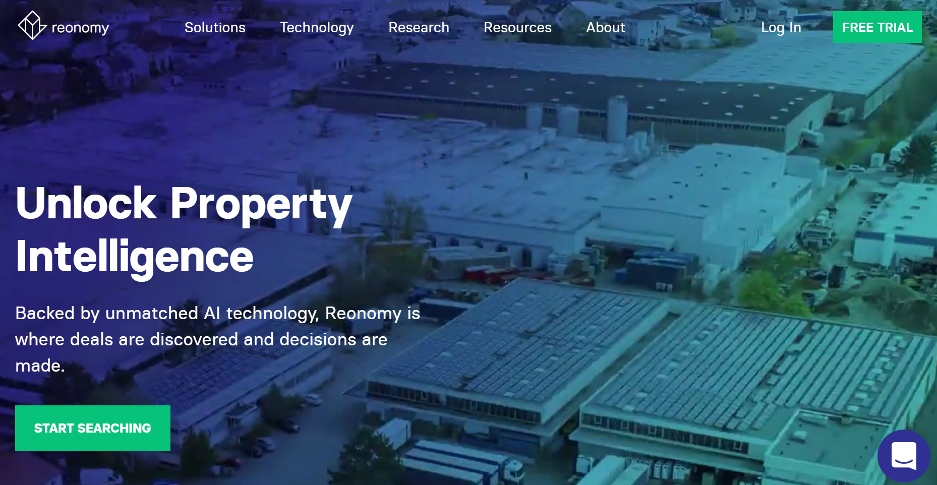 screenshot of the Reonomy website