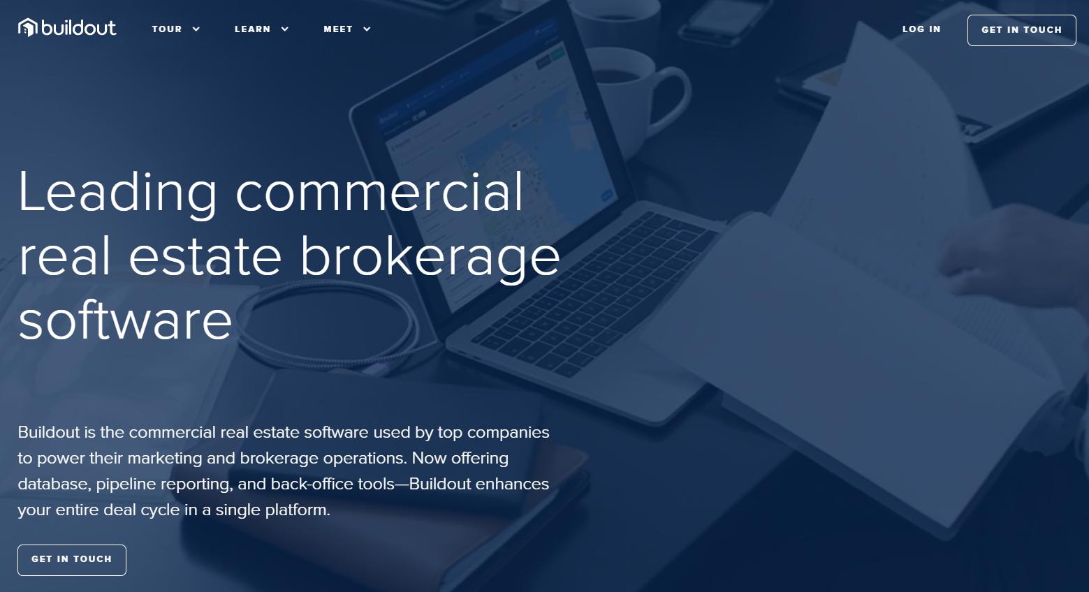 screenshot of the buildout website
