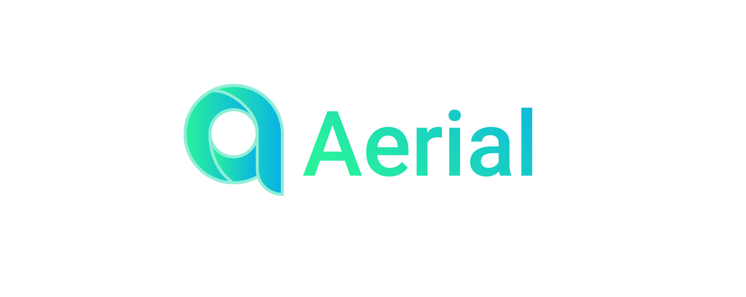 A logo for a company called Aerial. The logo shows the letter a as logo for the brand.