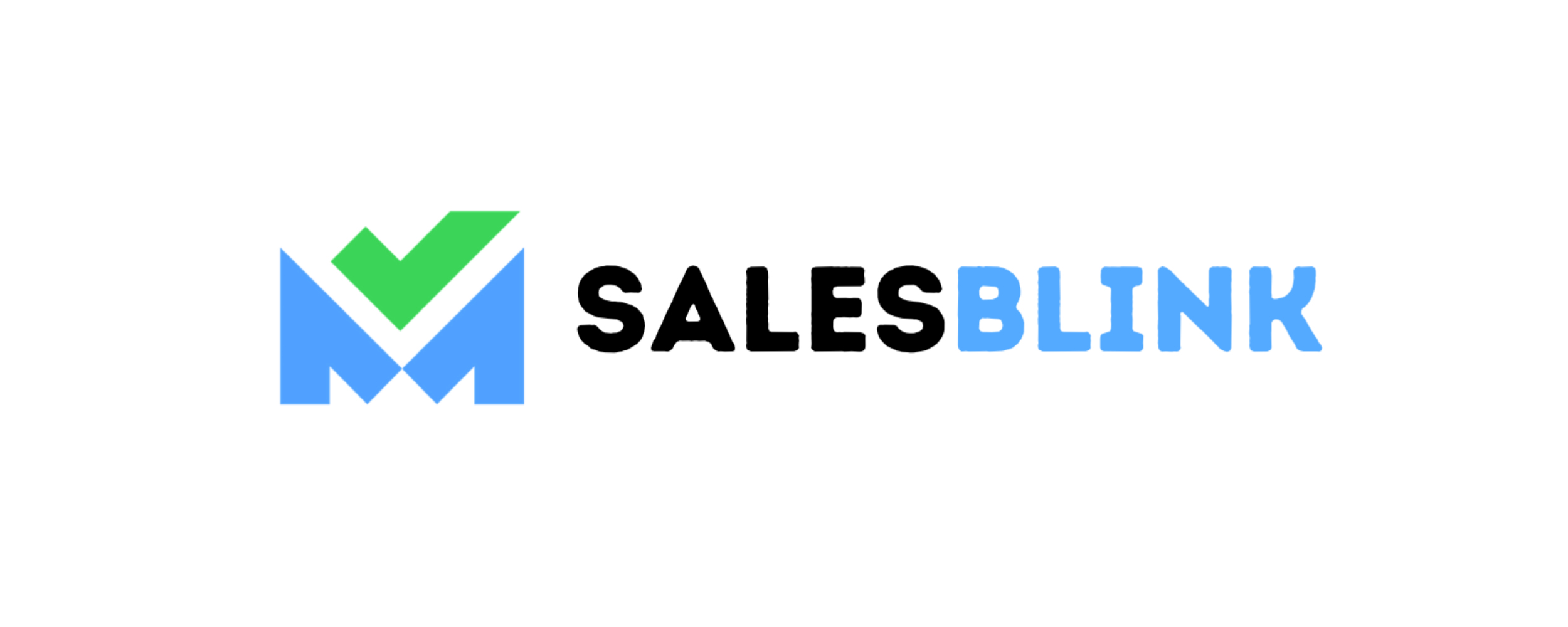 A logo for a company called Salesblink. Showing a mail icon with the text.