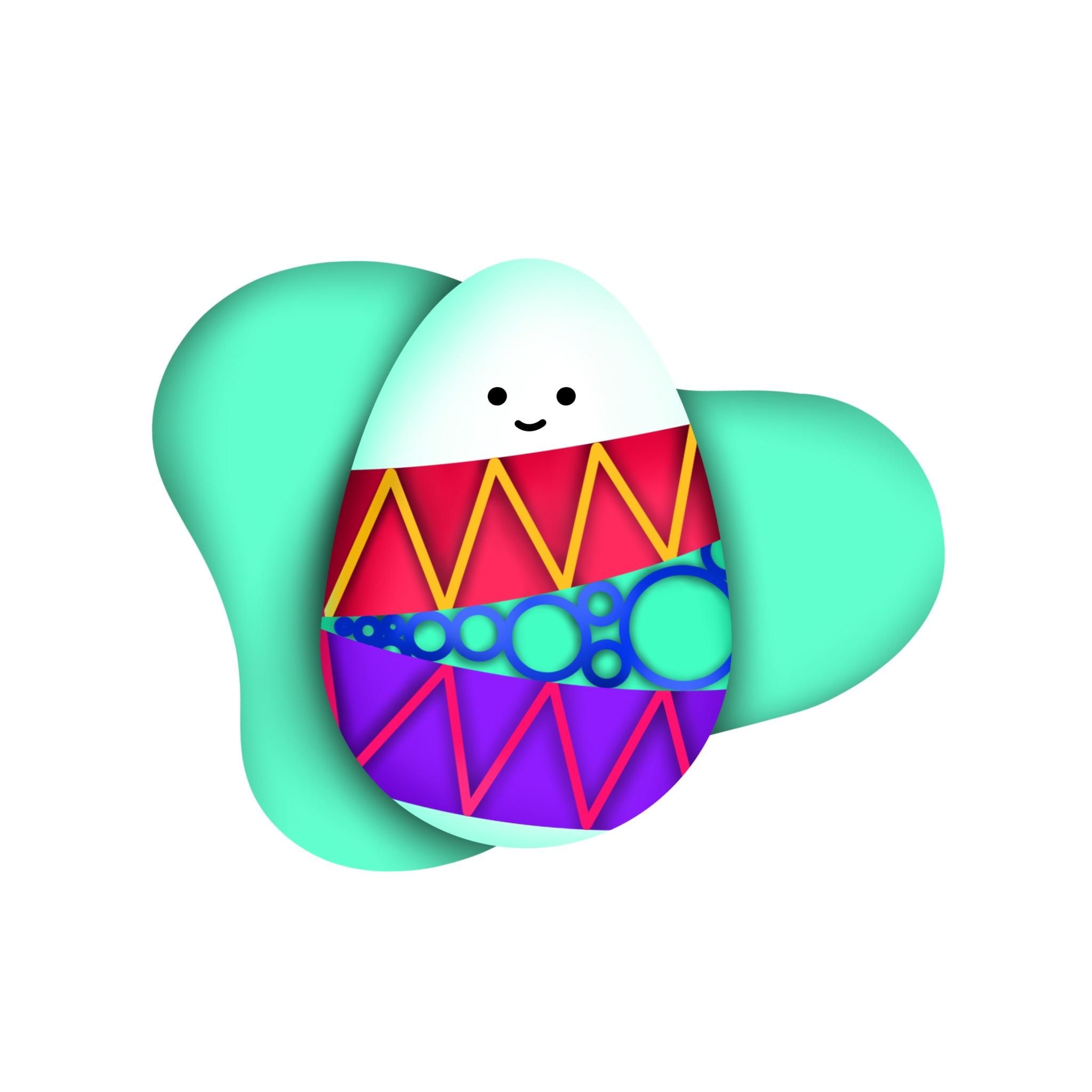 An illustration of a cute little egg.