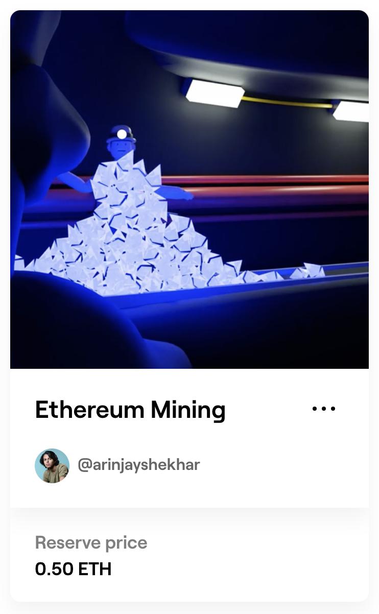 """Image of new NFT """"Ethereum Miner"""""""