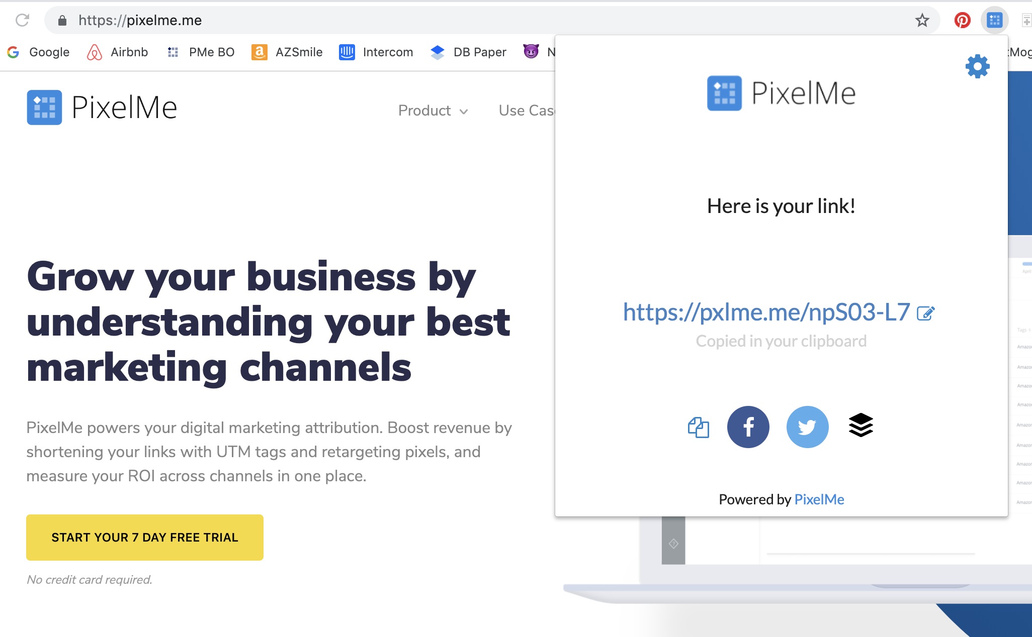 PixelMe URL Shortener