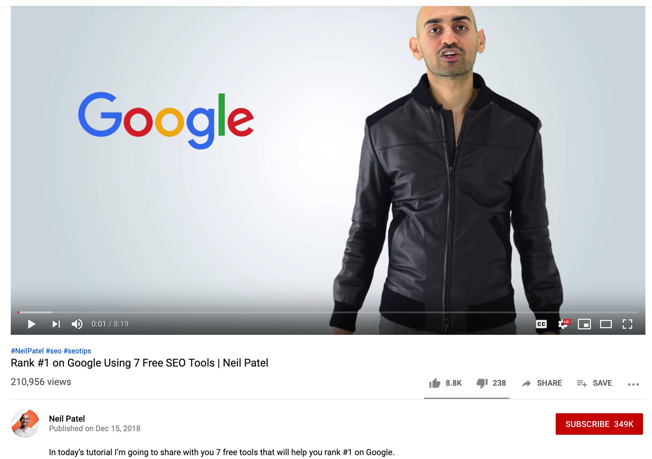 Neil Patel YouTube