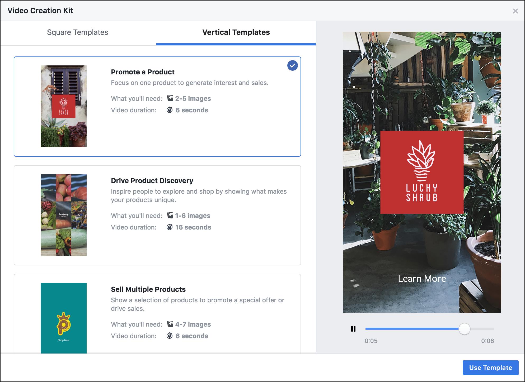 Facebook Video Ad Templates