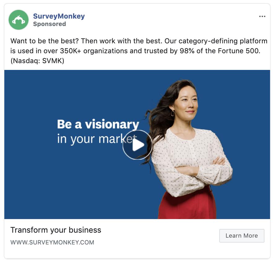 SurveyMonkey ad
