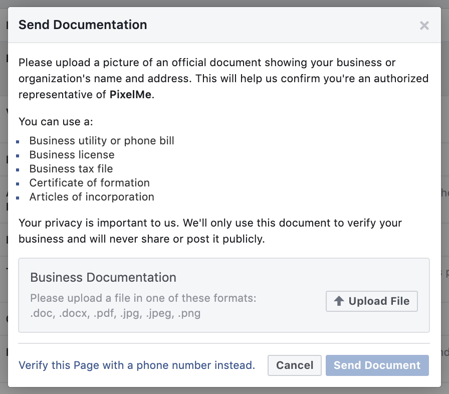 Step 6: Business documentation verification