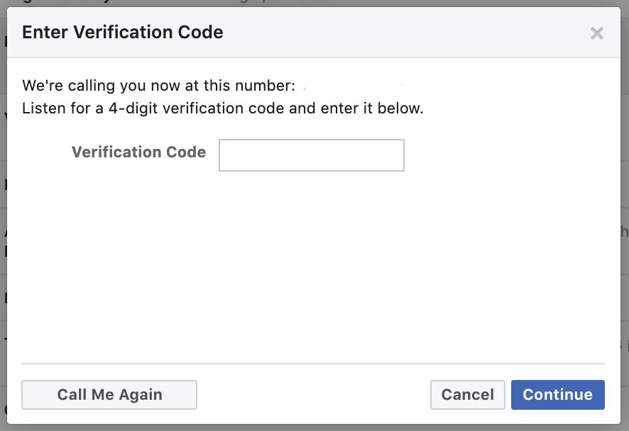Step 5a: Phone verification code