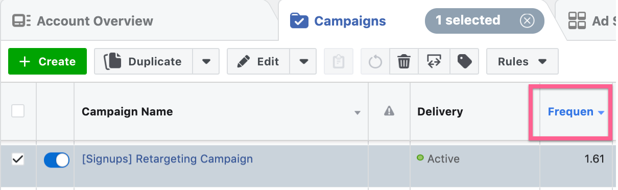 Facebook Ads Frequency