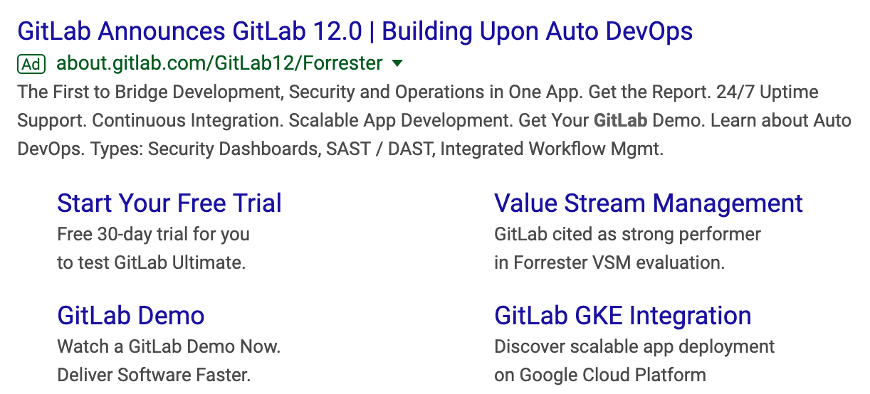 GitLab Google Ad whitepaper