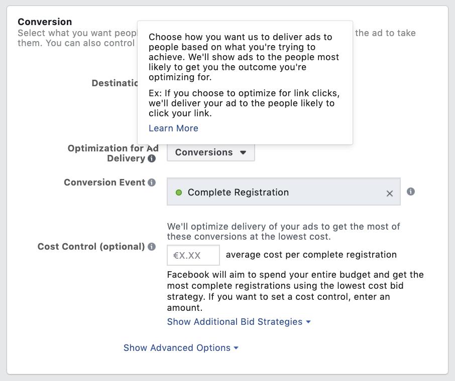 Facebook Ad - Optimize Conversions