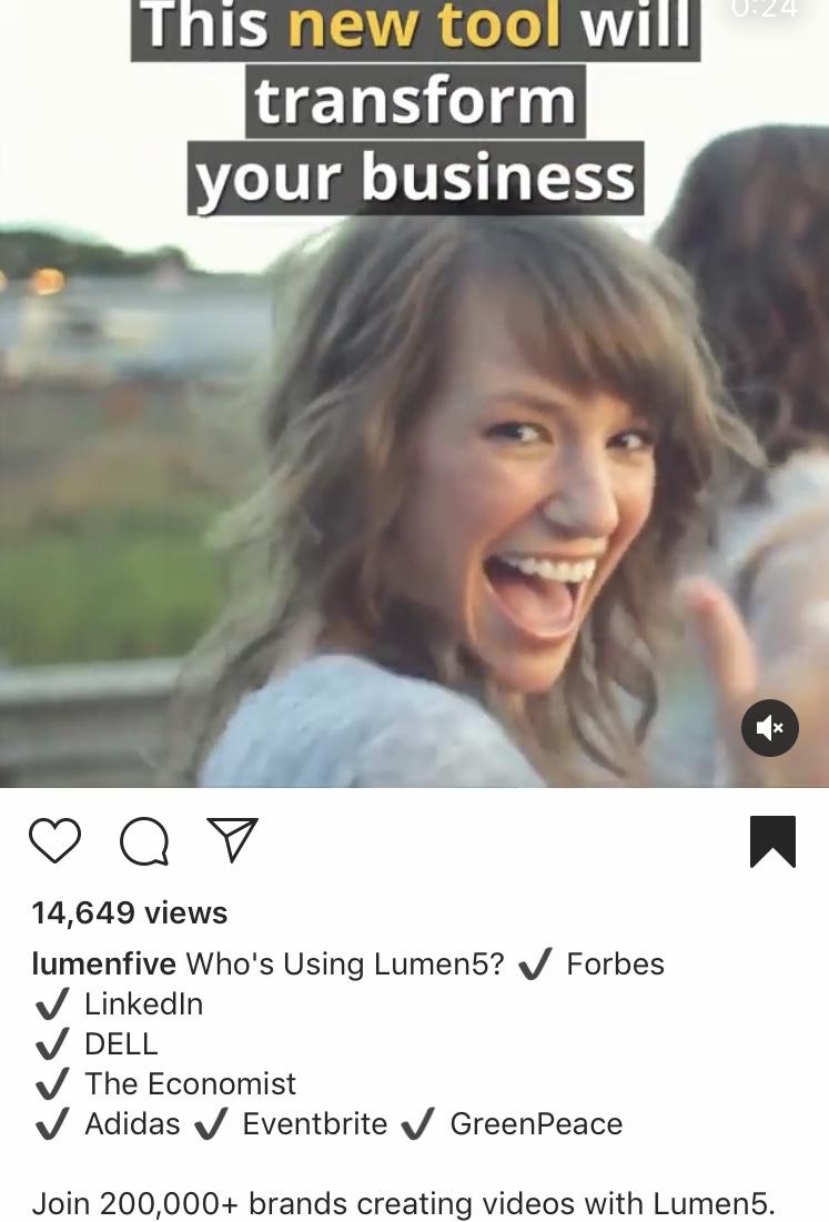 Lumen5 social proof