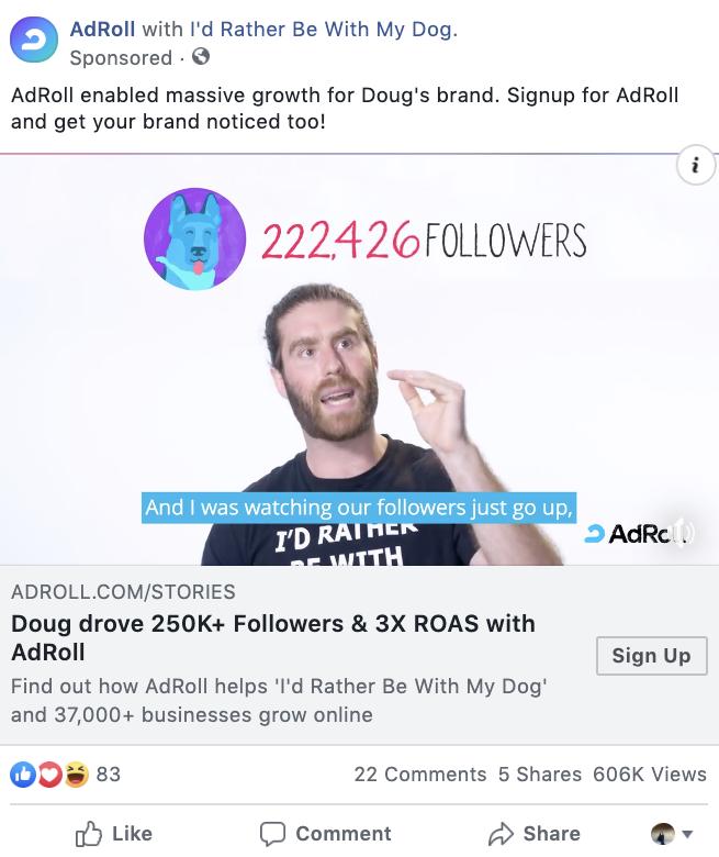 AdRoll video