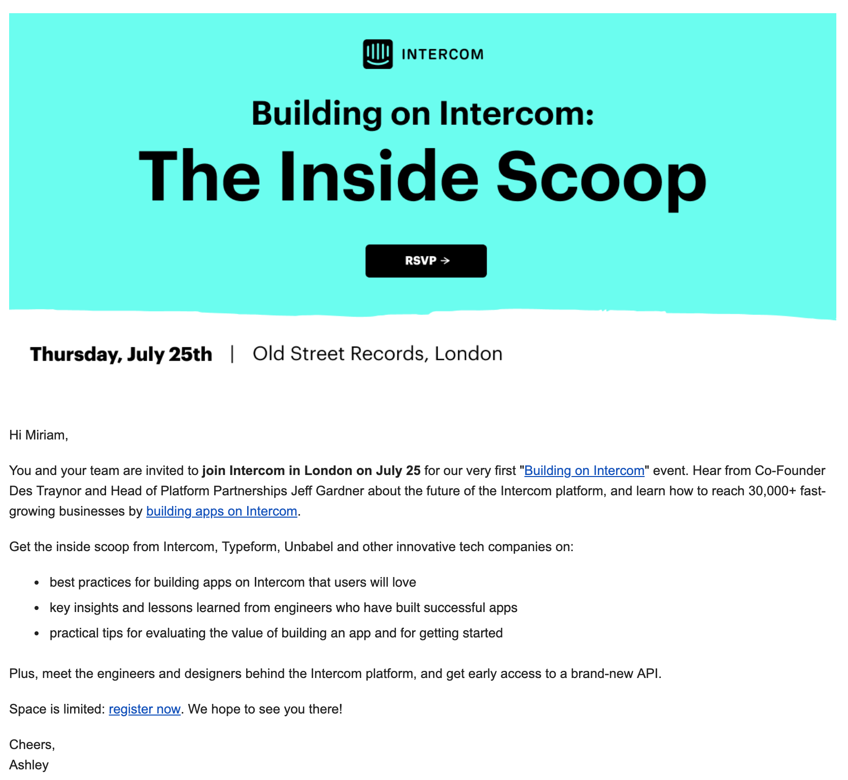 Intercom email