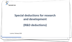 TRAF - Special deductions for research and development