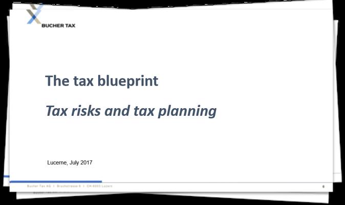The tax blueprint - tax risks and tax planning