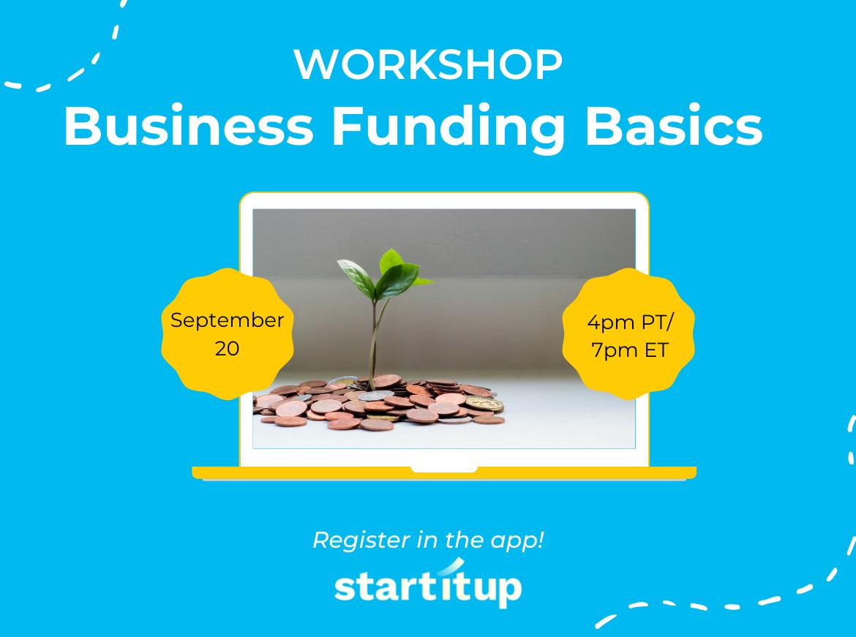 Workshop: Business Funding Basics