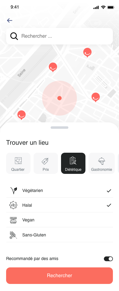 tastit interactive map screen