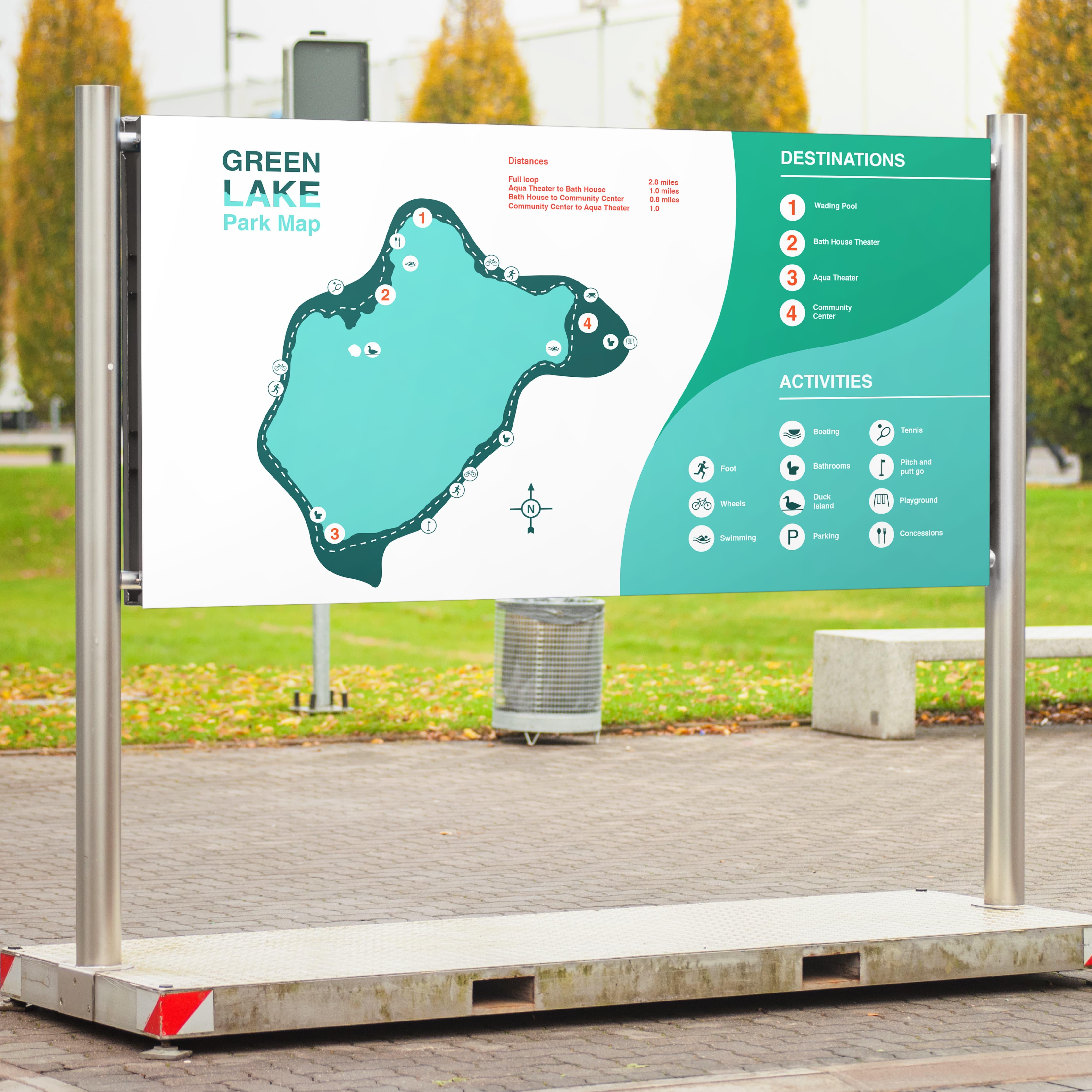 Green Lake Park: Wayfinding Redesign