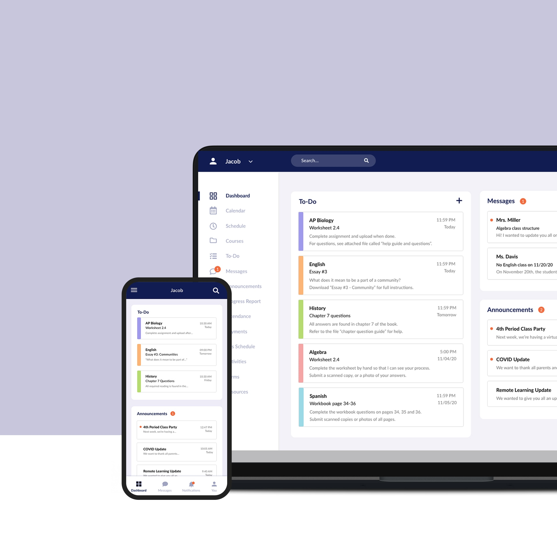 School Portal Redesign
