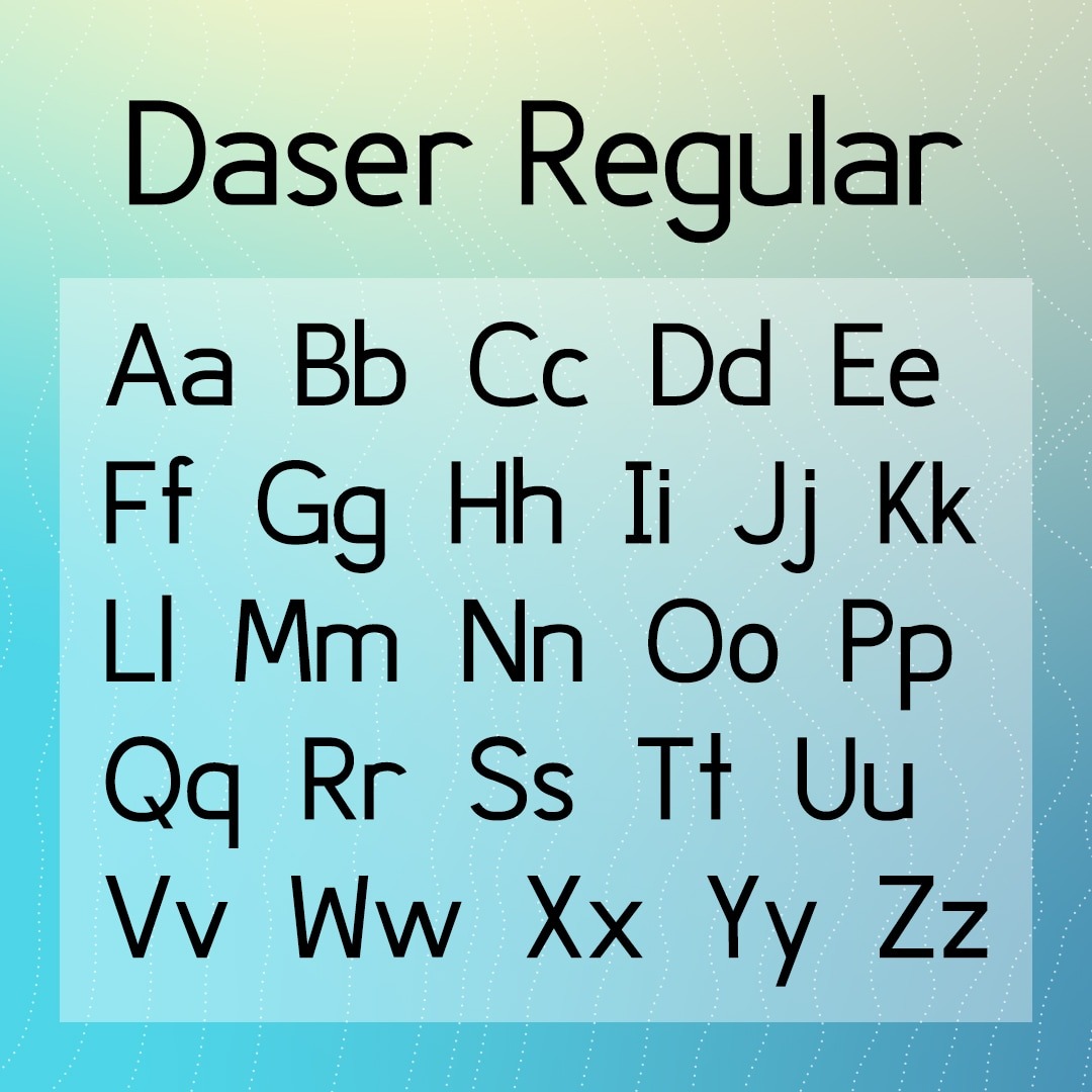 Daser Regular - A Typeface