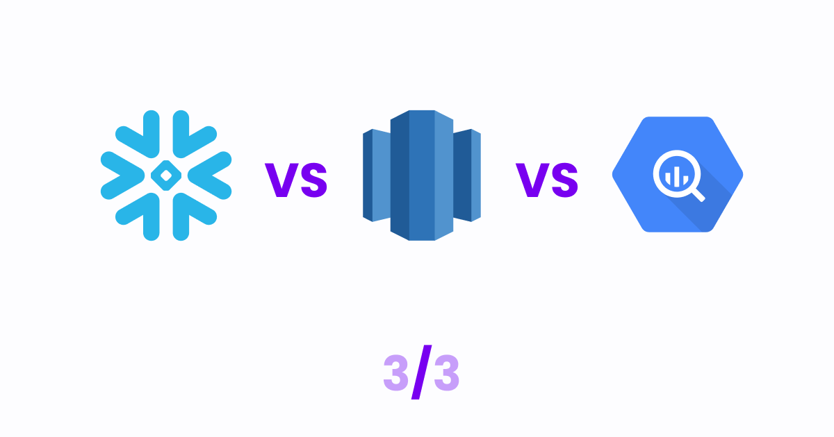 Decision Framework to choose between Redshift, BigQuery, and Snowflake (3)
