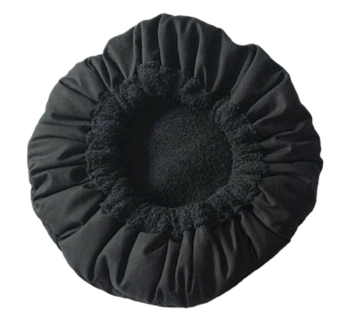 Bonnet Chauffant Aux Graines De Lin - Noir