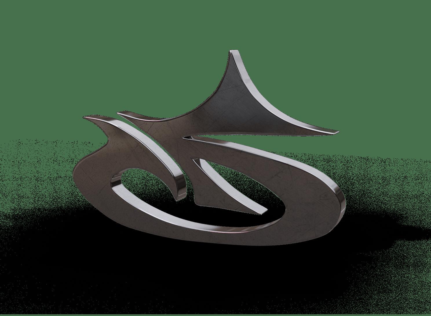 Company logo as an artistic sideways 'G' in 3D.