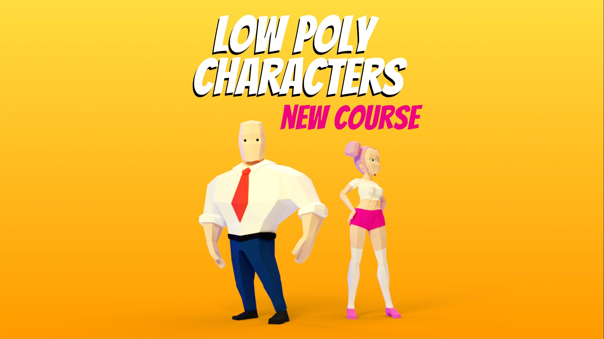 A course thumbnail showing a male and female 3d characters.