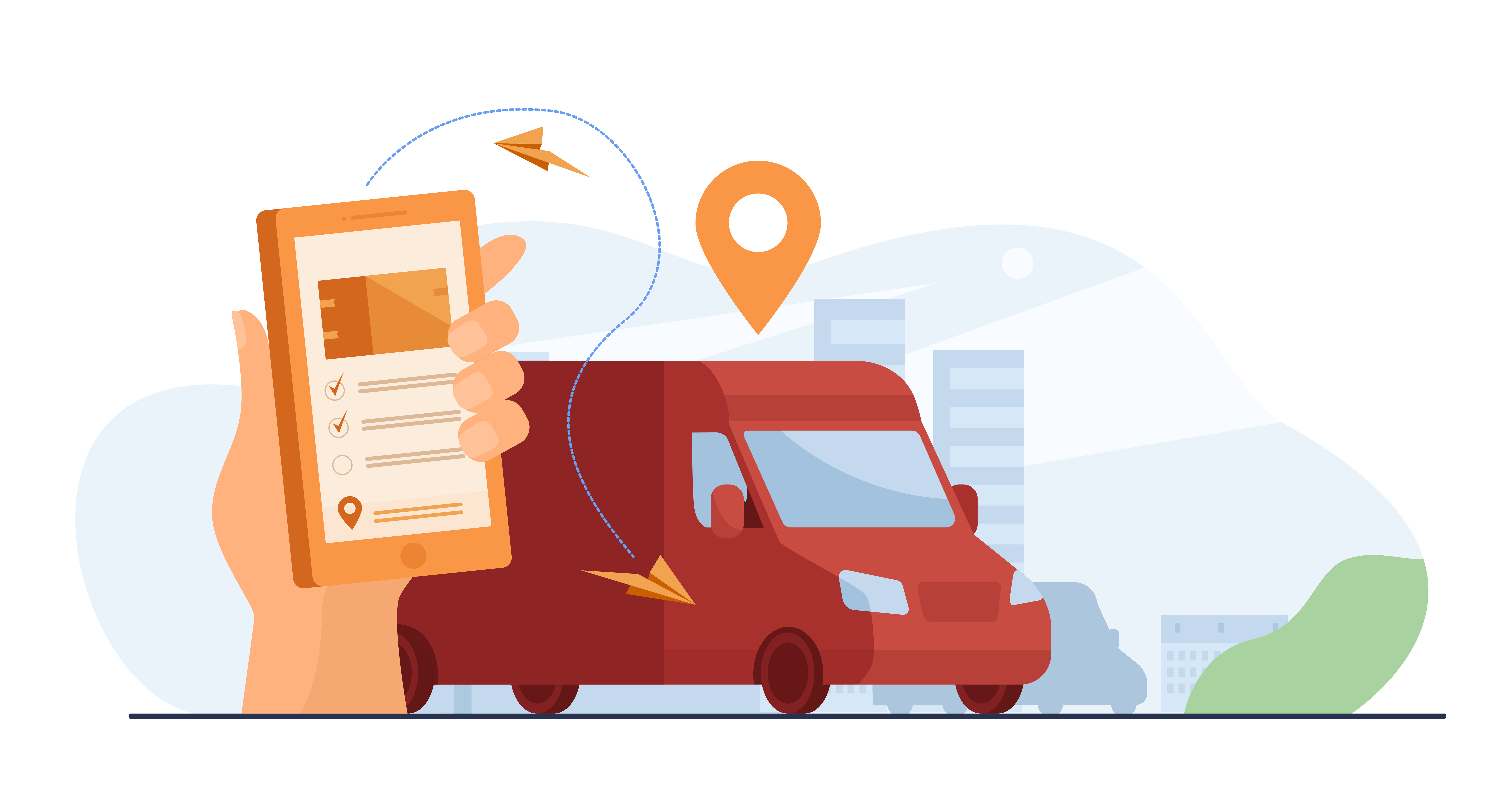 the image shows how an employee gps tracking app works