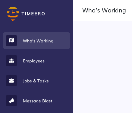 this visual shows how Timeero home health software looks like