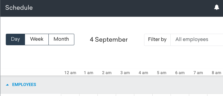 the visual shows how to create a schedule in Timeero