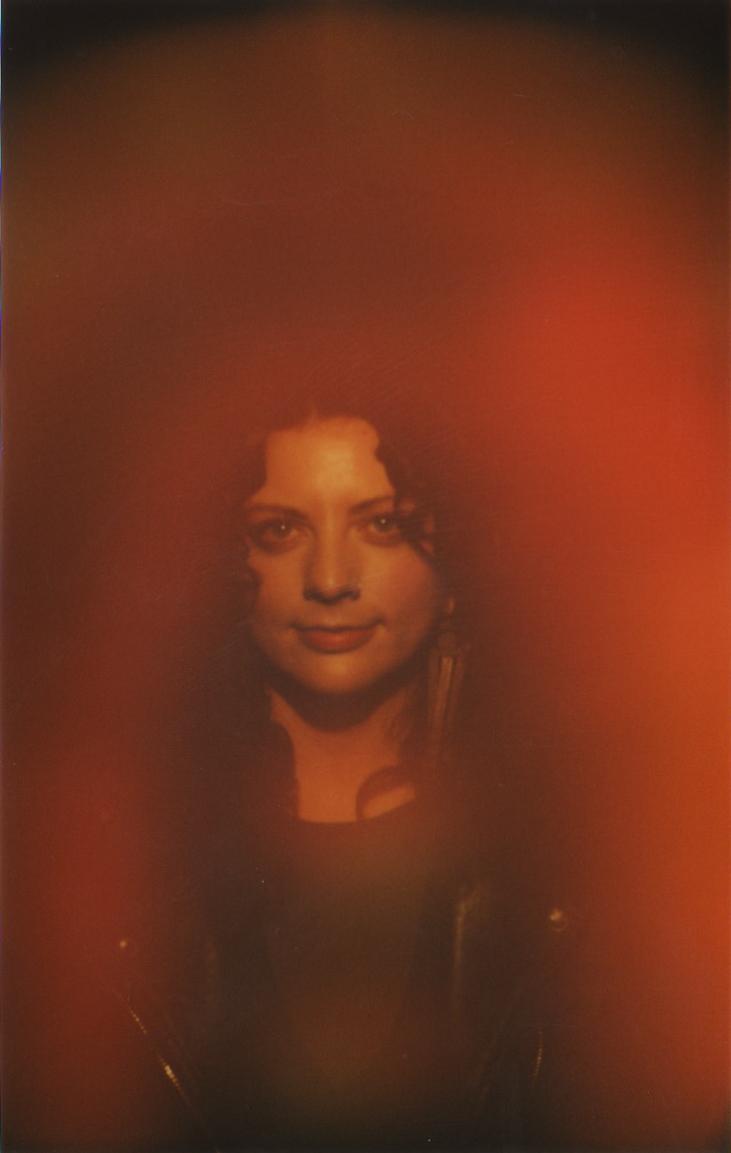 Orange Aura photo of a woman